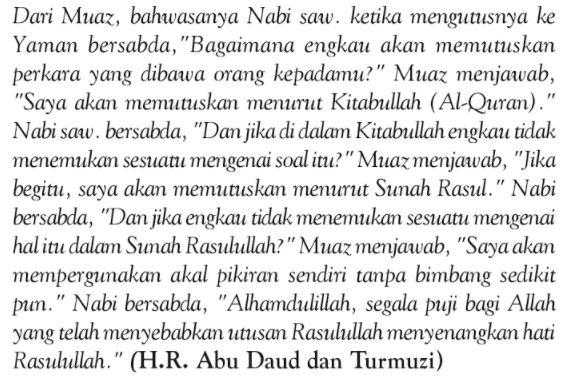 sumber hukum islam kedudukan hadis 2