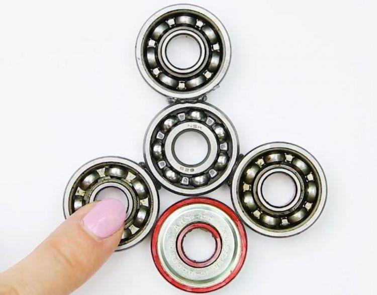 cara membuat spinner fidget merekatkan bearing