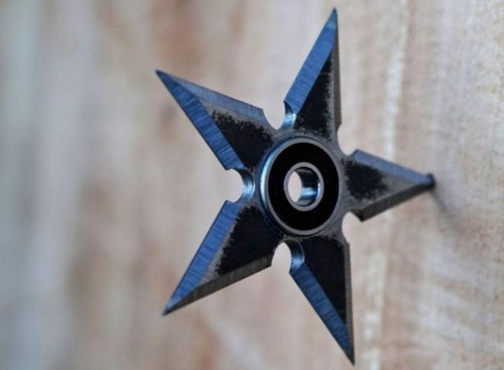cara membuat spinner shuriken