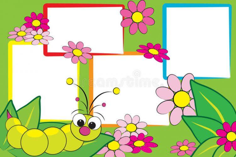 background aqiqah te,a ulat dan bunga