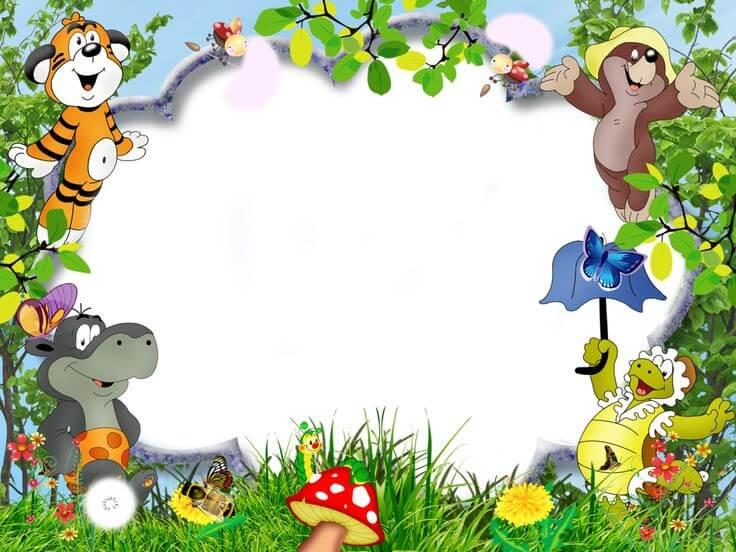 background aqiqah tema binatang dan tumbuhan
