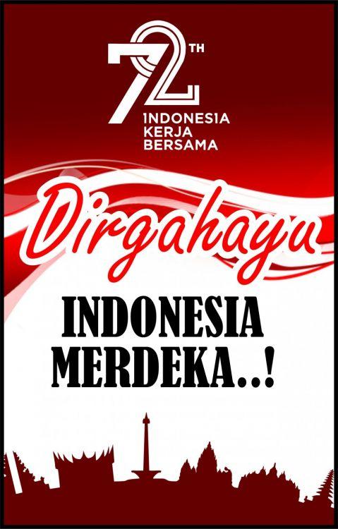 poster hari kemerdekaan indonesia