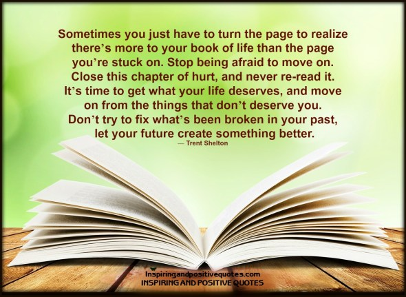 sometimes you just have to turn the page
