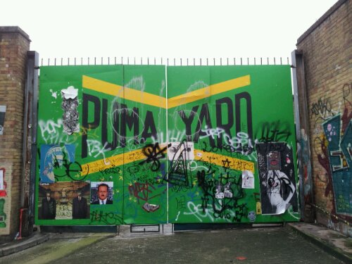 Puma Yard mural which replaced ROA's pig