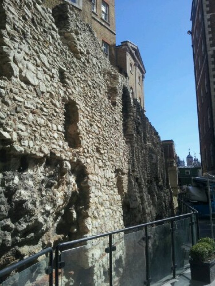 section of the roman wall of london at Coopers row