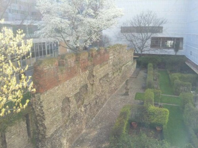 The roman Wall of London at St Alphege