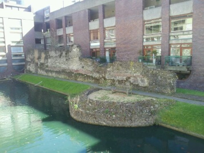 Roman wall of London at the Barbican