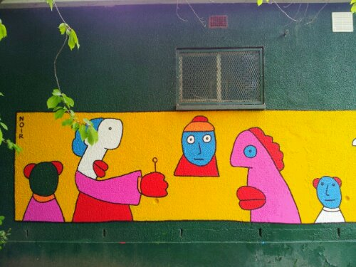 Thierry Noir in Dulwich