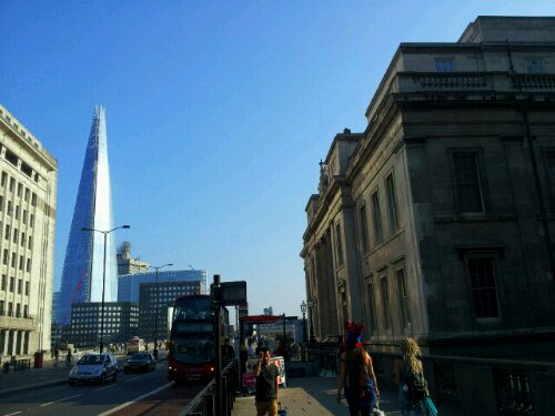 Sitting on London Bridge with a great view of the Shard, The Worshipful Company of Fishmongers