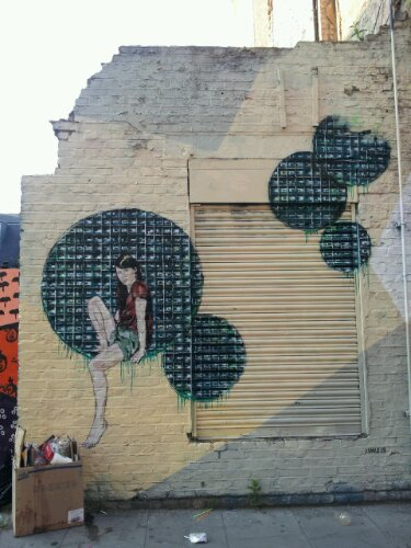 The whole wall has been used to some good effect on Hanbury Street