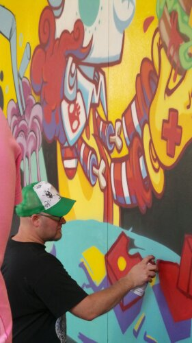 Bristol artist CPzero76 adds some final touches