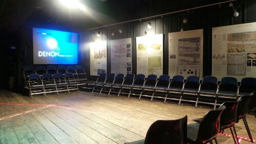 The lecture and performance area of the Rose Theatre