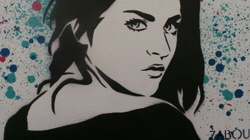 Kurt Cobains daughter by Zabou, rumour has it, this image may be appearing on a wall sometime soon.  Cool if it did