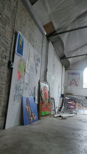 A small yet cavernous space, Saki has lots art on display