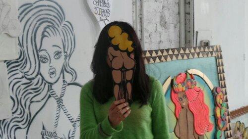 Saki in her studio