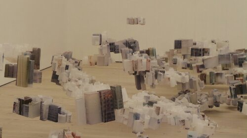 Han Feng's 'Floating City' is made up from tracing paper