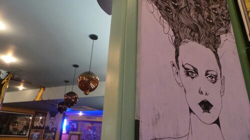 Bray features strongly in the venue.  He is a talented illustrative artist