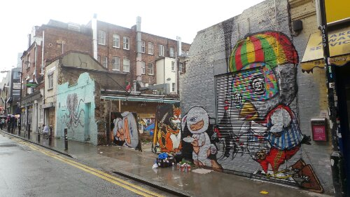 Hanbury Street with works from La Pandilla, Alex Face, Mau Mau and Bon
