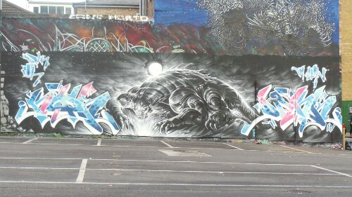 Dan Kitchener and Noir painted their favourite spot on Sclater Street