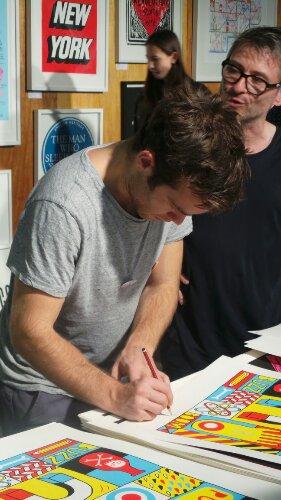 David Shillinglaw signed a few prints