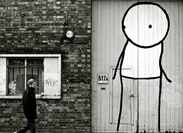 Stik is one of Stephanie's favourite artists.  This piece can still be seen on Cambridge Heath Road