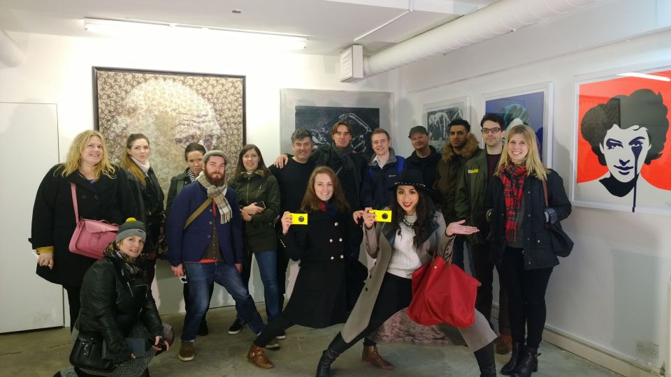 The happy blogging crew at the Pure Evil Gallery