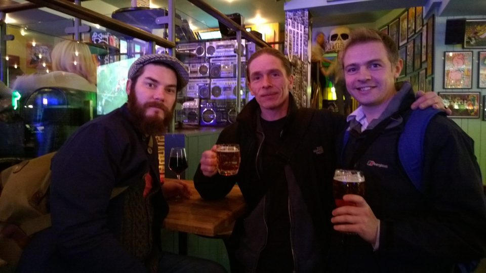 Bloggers unite with a pint after a long but rewarding day