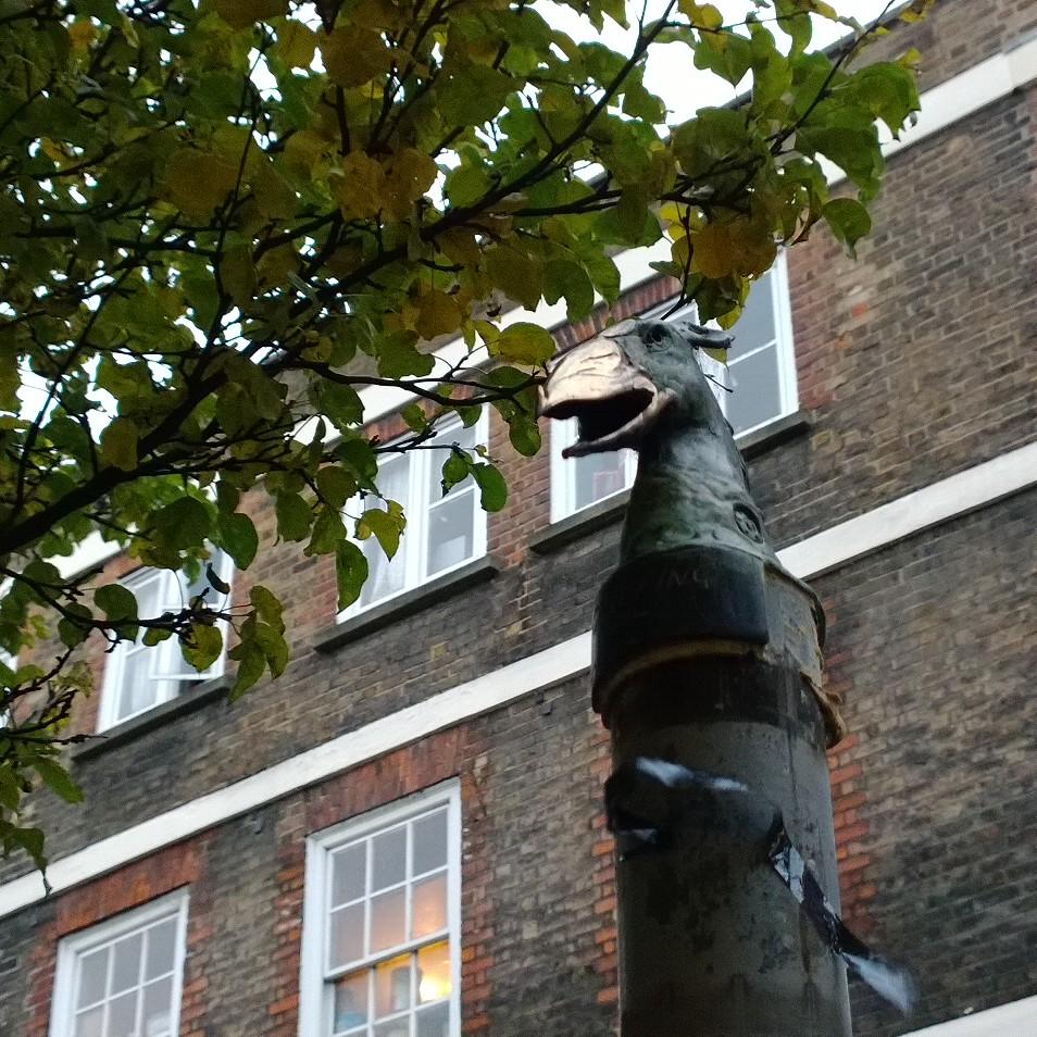 Another Jonesy sculpture on Hanbury Street