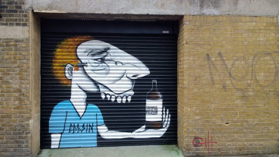 Another little piece from Edwin on a shutter in a yard just off White Post Lane