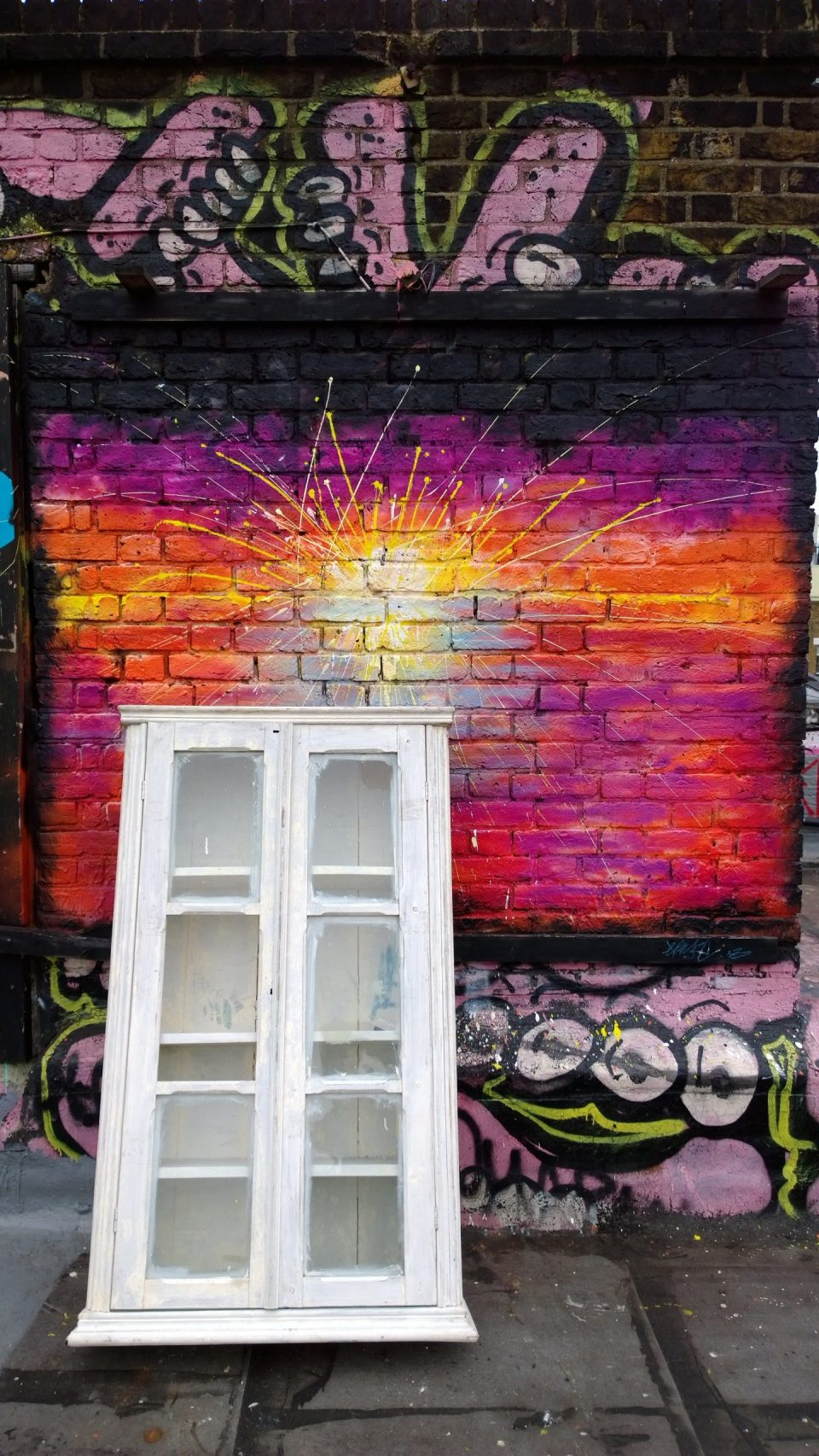Colourful art on the roof