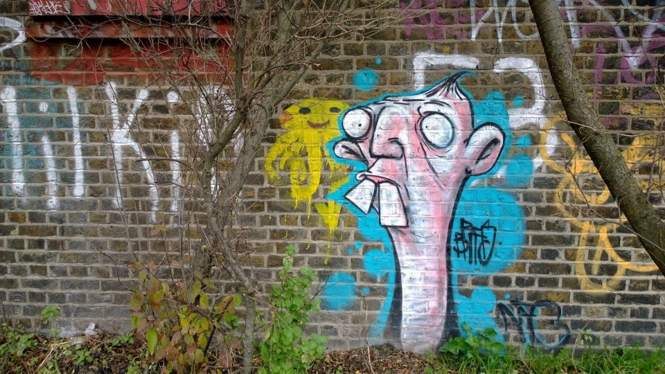Art on the banks of the Hertford Union Canal