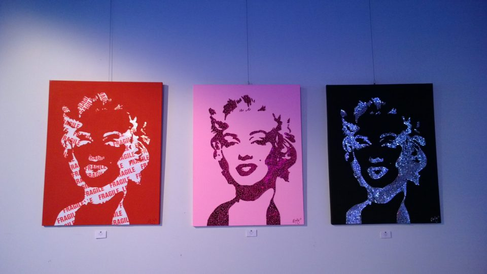 Some of Marty's work on display in the gallery
