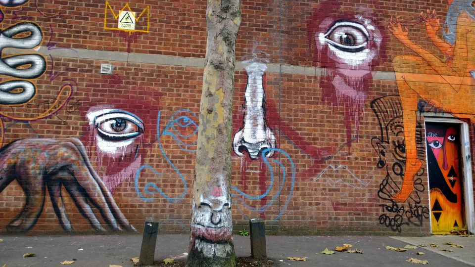 Josh Jeavons street art on Bream Street