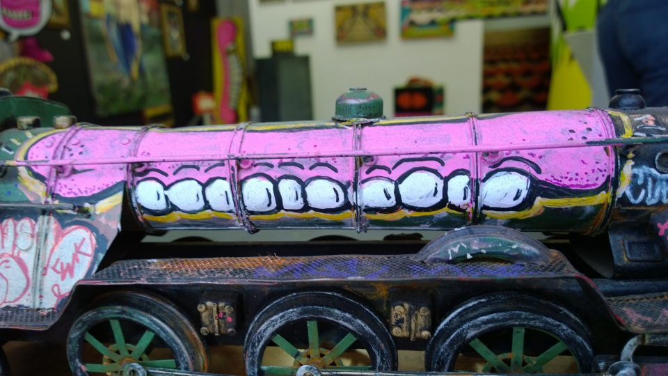 A cool little train with Sweet Toof's trademark tag