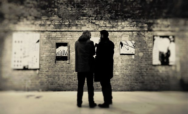 Some visitors admire the art at the Hoxton Gallery.  Here I've used a filter and played around with the focus around the edges