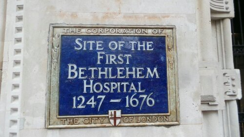 Bethlehem Plaque on the side of Liverpool Street station
