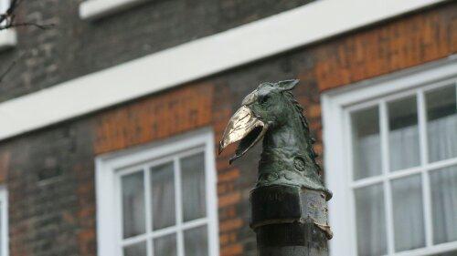 Jonesy sculpture on Hanbury Street