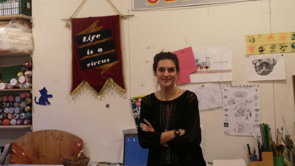 Lana Hughes in her studio where a lot of the Animaux Circus magic is created