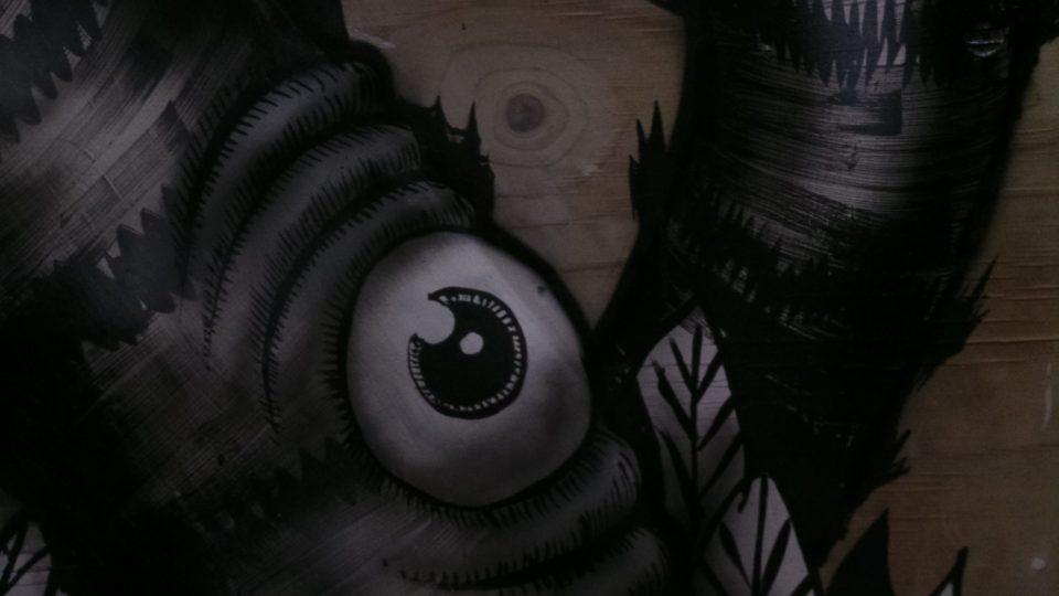 A Giant Eye, one of Phlegm's hallmarks