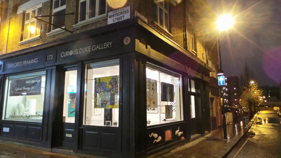The exciting new gallery building at 173 Whitecross Street in London