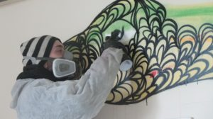 Kef painting in London
