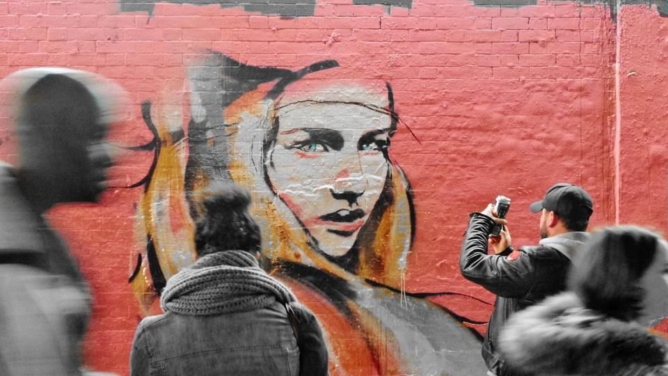 Hannah's work in Leake Street for Femme Fierce