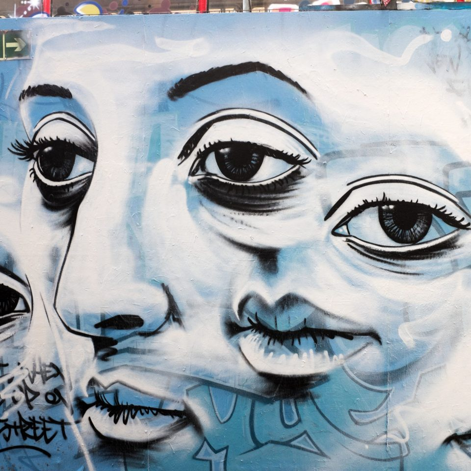 Detail from the Josh Jeavons mural.  Thanks to 'Meet The Street' for the photo