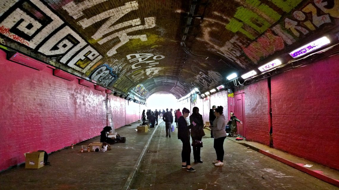 The walls of the Leake Street tunnel have never been so bright