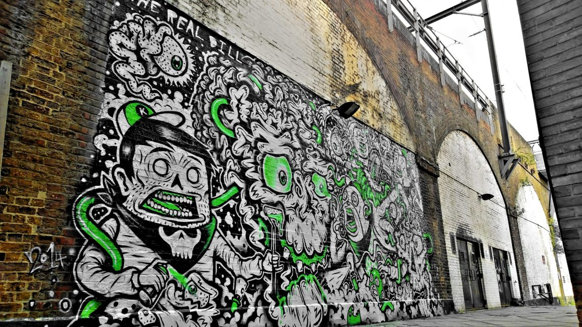 The Real Dill and Captain Kris completed this epic piece on a railway arch on Water Lane leading away from the market
