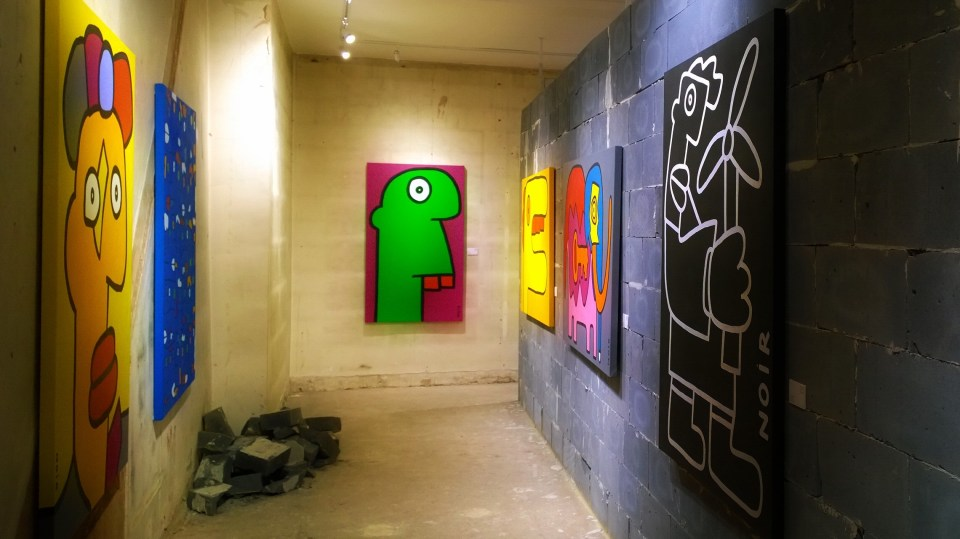 The Howard Griffin Gallery with works from Thierry Noir