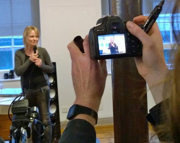 Ingrid delivering her speech