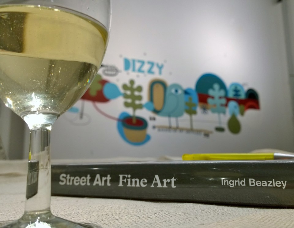 The book with wine and art