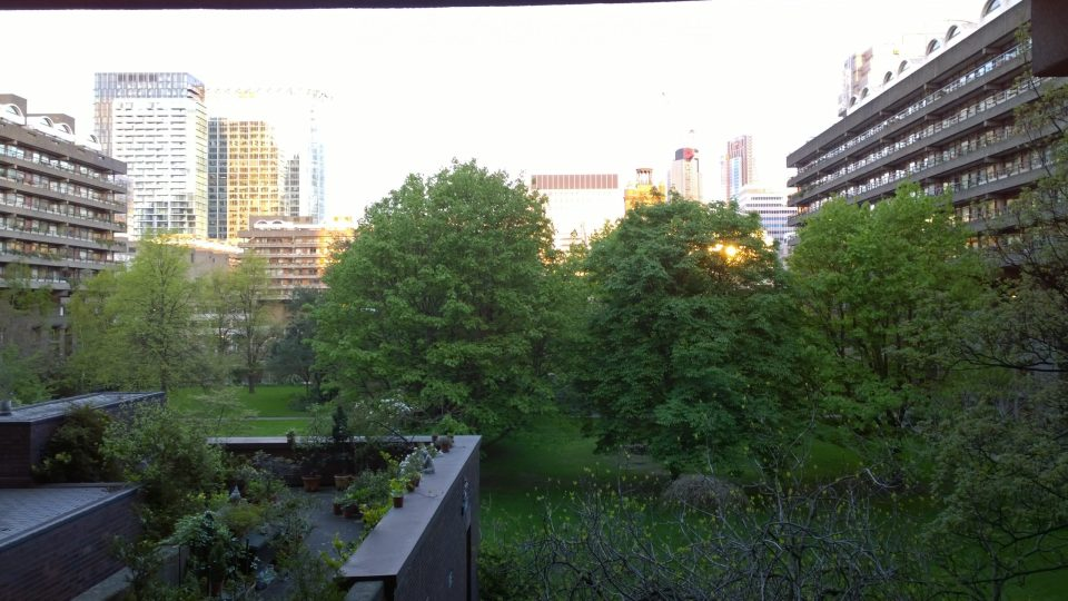 It's suprising just how much green space can be seen in the Barbican