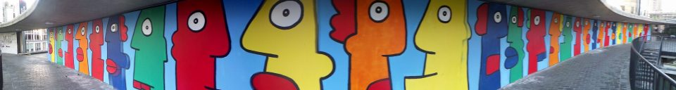 The huge Thierry Noir mural
